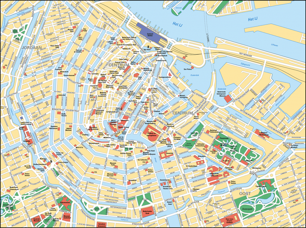 Map Of Amsterdam Tourist Attractions, Sightseeing & Tourist Tour - Tourist Map Of Amsterdam Printable
