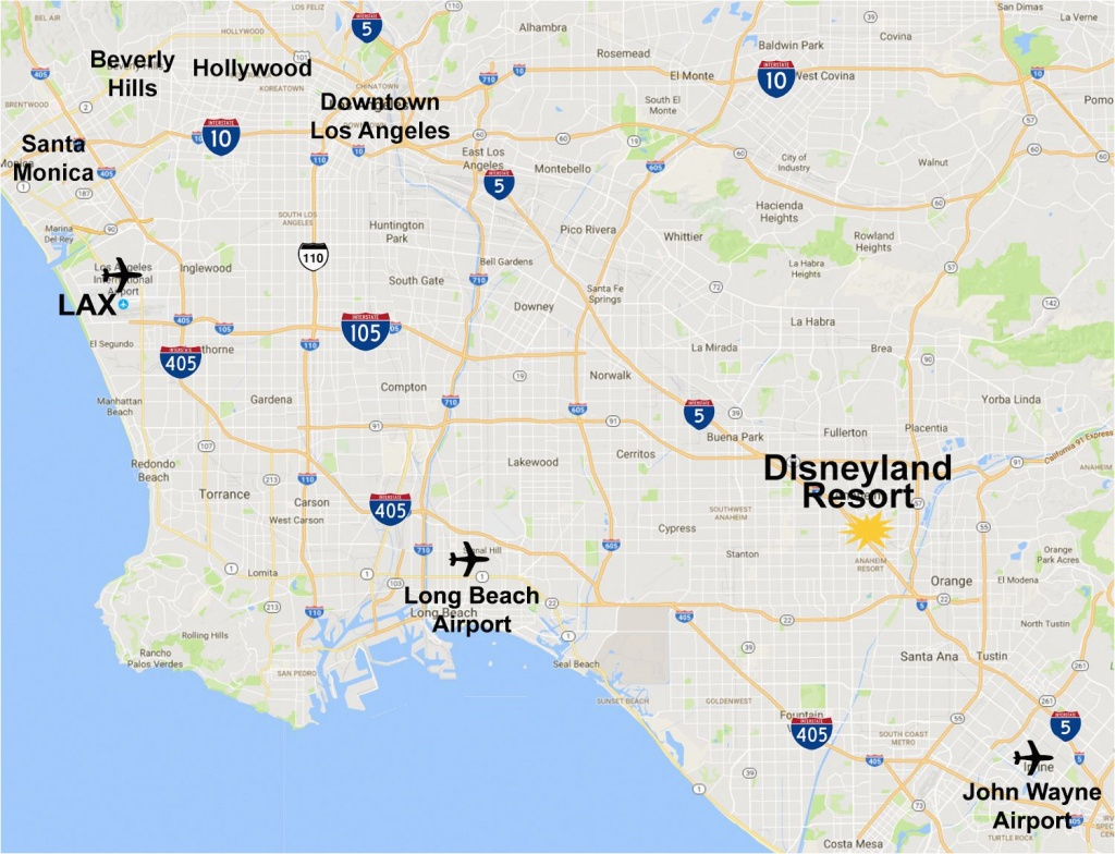 Map Of Anaheim California Area Maps Of The Disneyland Resort - Anaheim California Map