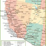 Map Of Arizona, California, Nevada And Utah   Map Of California Cities And Towns