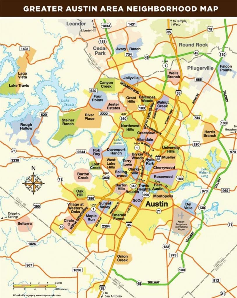 Map Of Austin Texas Area - Map Of Austin Tx Area (Texas - Usa) - Austin Tx Map Of Texas