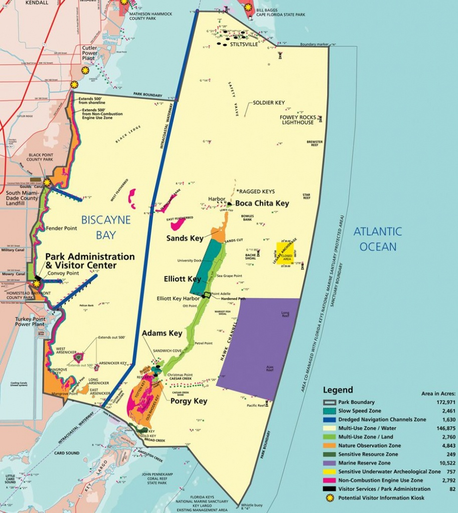 Map Of Biscayne Np | National Parks - Biscayne In 2019 | Biscayne - Los Cayos Florida Map