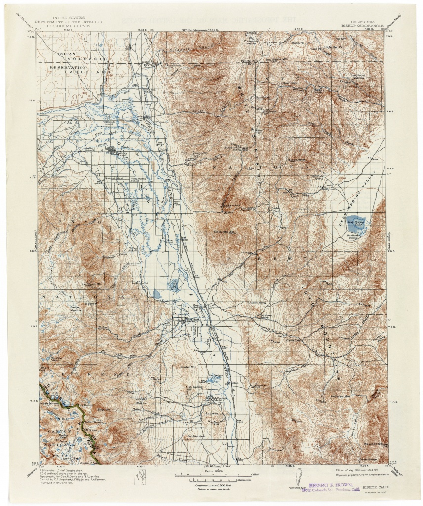 Map Of Bishop California Area And Travel Information | Download Free - Map Of Bishop California Area