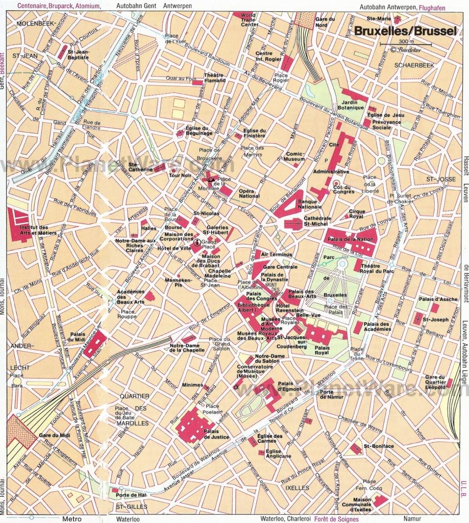 Map Of Brussels Attractions   My Heart Belongs To Brussels   Tourist - Tourist Map Of Brussels Printable