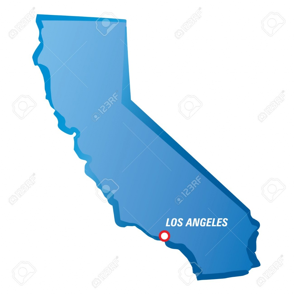 Map Of California And Los Angeles. Vector Illustration. Royalty Free - Los Angeles California Map