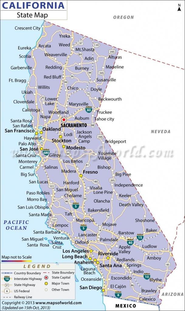 Map Of California Coast Cities | California Map 2018 Regarding Map - Map Of California Coast Cities