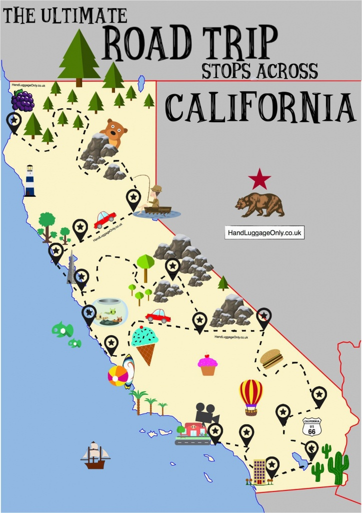 Map Of California Coast Hwy 1 The Ultimate Road Trip Map Of Places - Map Of Hwy 1 California Coast