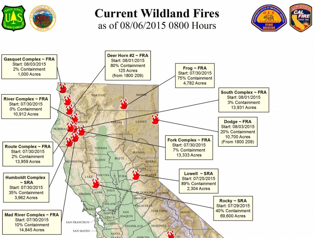 Map Of California Fires Currently Burning | Compressportnederland - Northern California Wildfire Map