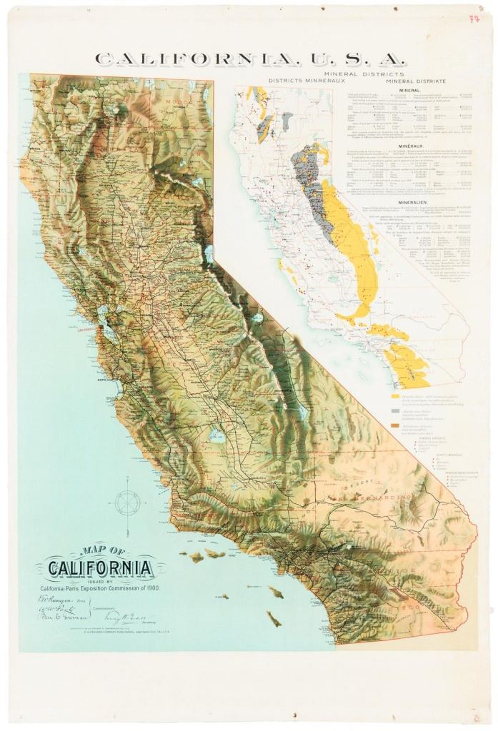 Map Of California Issuedcalifornia-Paris Exposition Commission - California Desert Map