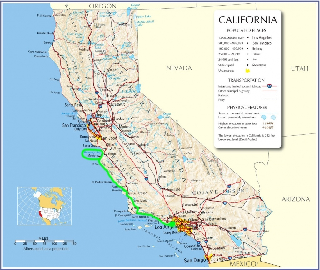 Map Of California Pacific Coast Highway 1 – Map Of Usa District - Map Of Hwy 1 California Coast