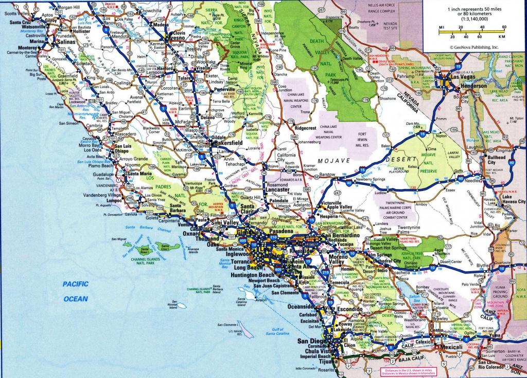 Map Of California Roads And Travel Information   Download Free Map - California Road Map Free