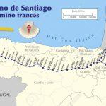 Map Of Camino De Santiago. Map Of Saint James Way With All The   Printable Map Of Camino De Santiago