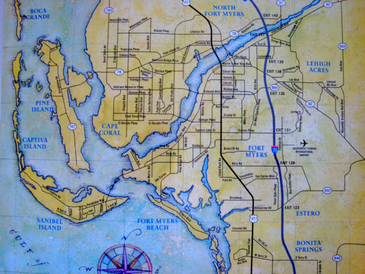 Map Of Florida Including Cape Coral
