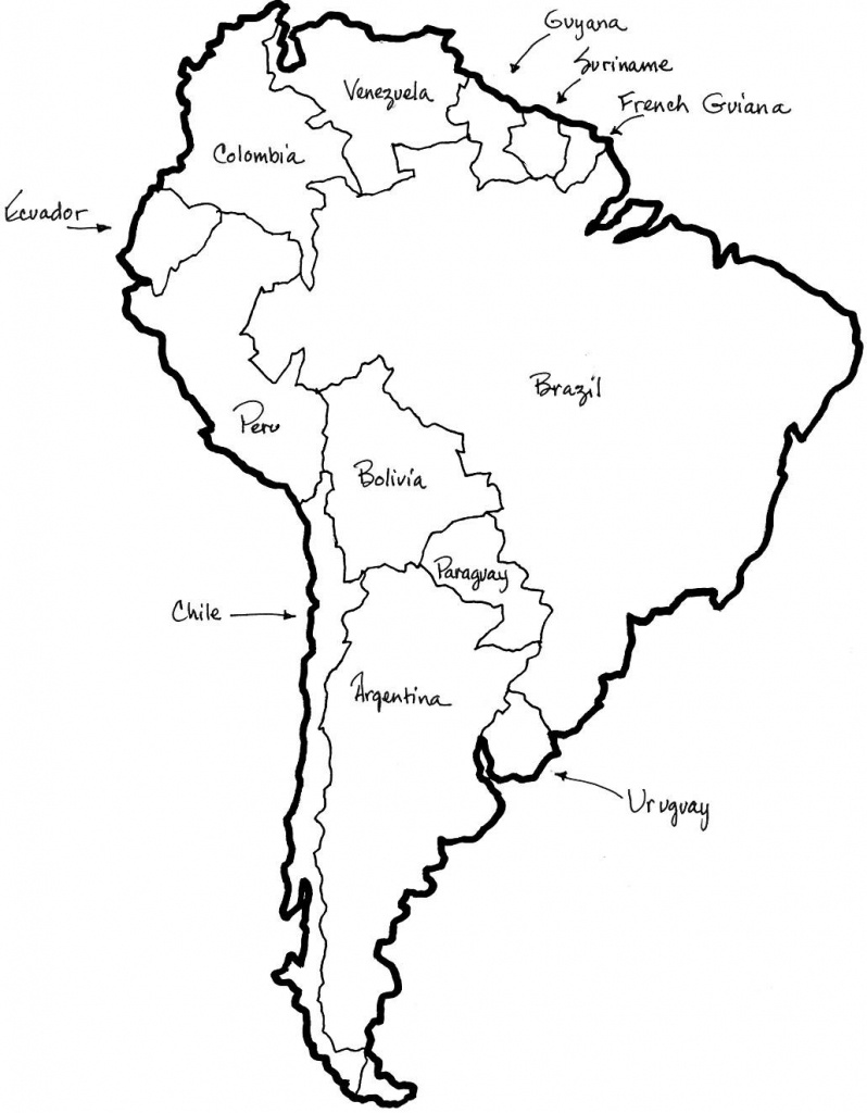 Map Of Central And South America Coloring Sheet - Google Search - Printable Map Of Central And South America
