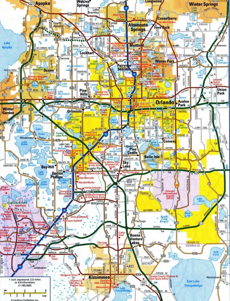 Map Of Central Florida Roads And Travel Information | Download Free - Road Map Of Orlando Florida