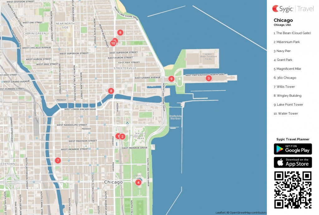 Map Of Chicago Printable Tourist 87318 Png Filetype | D1Softball - Chicago City Map Printable