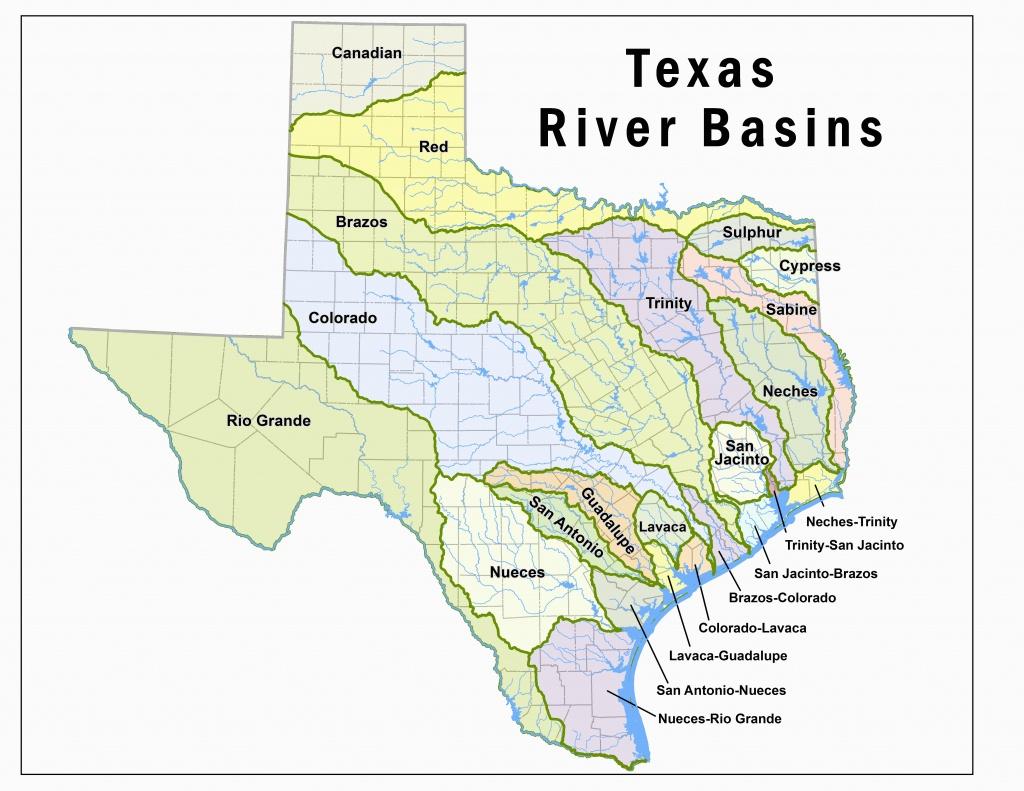 Map Of Colorado River Basin | Secretmuseum - Colorado River Map Texas