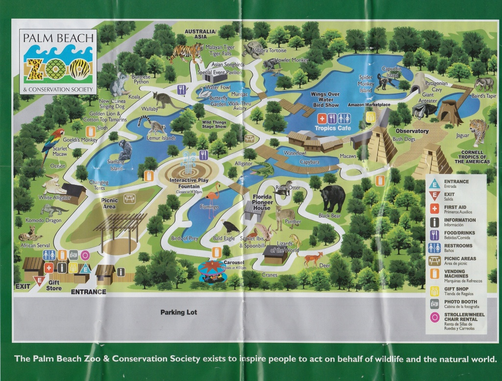 Map Of Complex | Palm Beach Zoo | Palm Beach, Beach, Map - Zoos In Florida Map