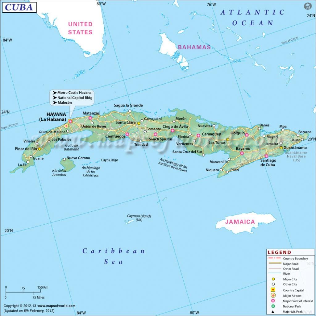 Map Of Cuba, Cuba Map - Printable Outline Map Of Cuba