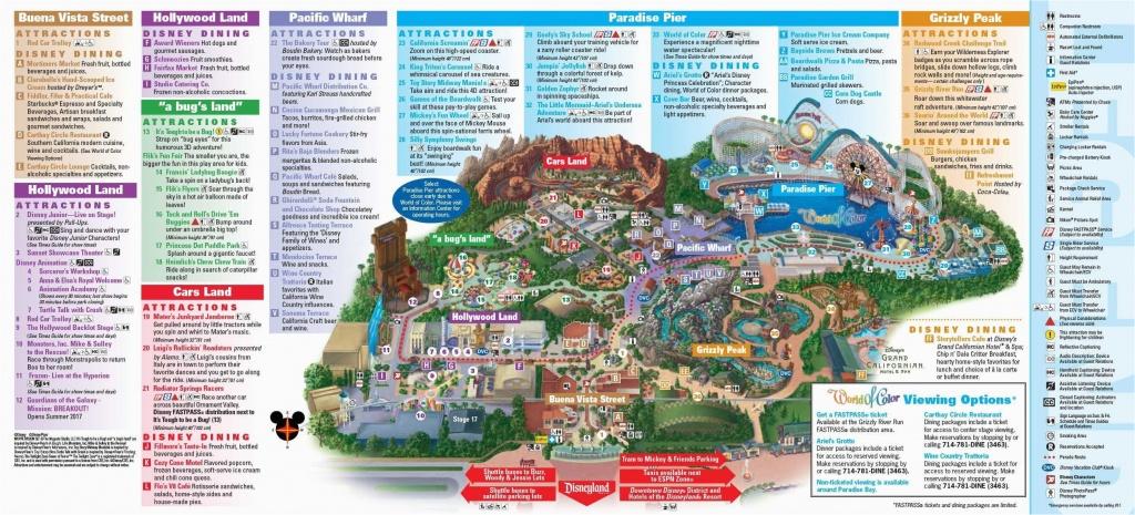 Map Of Disney California Adventure Park | Secretmuseum - California Adventure Map 2017