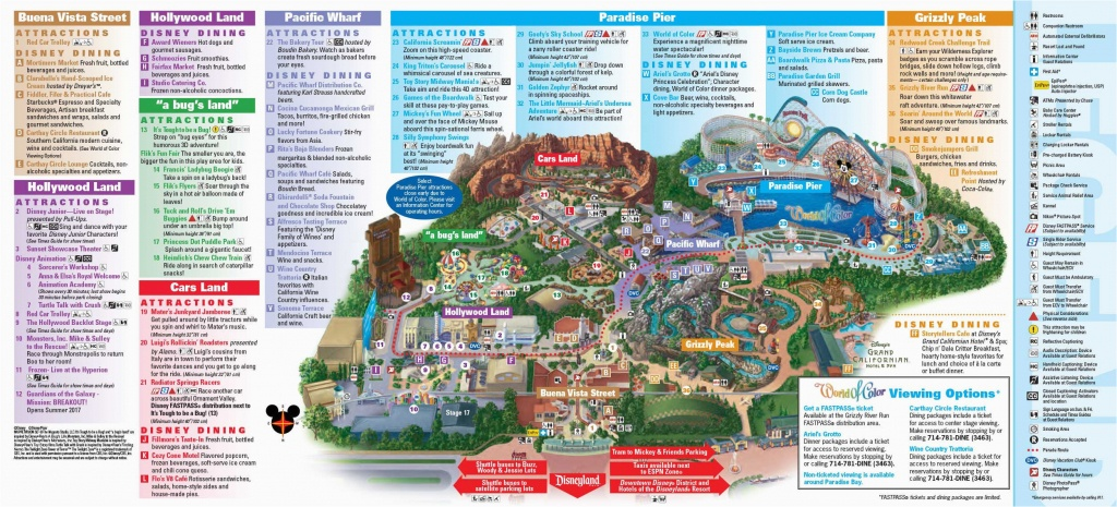Map Of Disneyland And California Adventure Park Disneyland - California Adventure Map