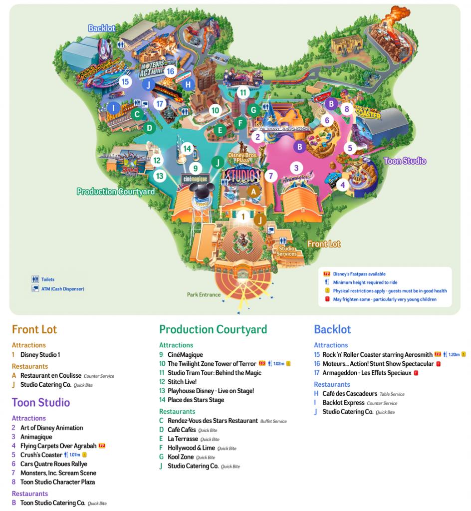Map Of Disneyland Paris And Walt Disney Studios - Printable Disneyland Map 2014
