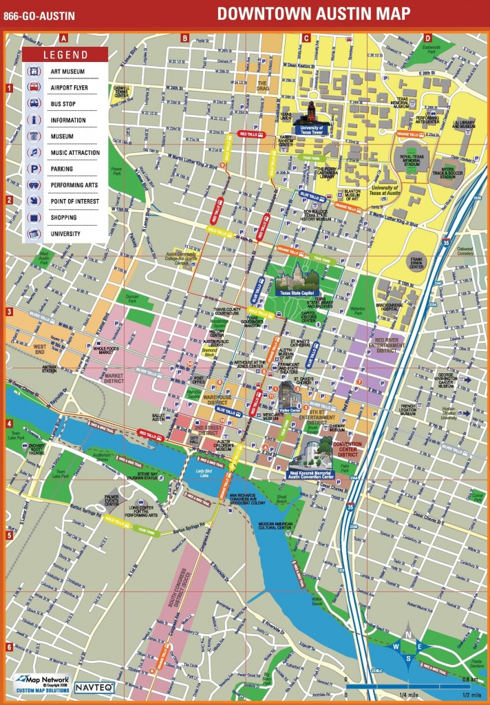 Map Of Downtown Austin - Map Downtown Austin (Texas - Usa) - Printable Map Of Austin Tx