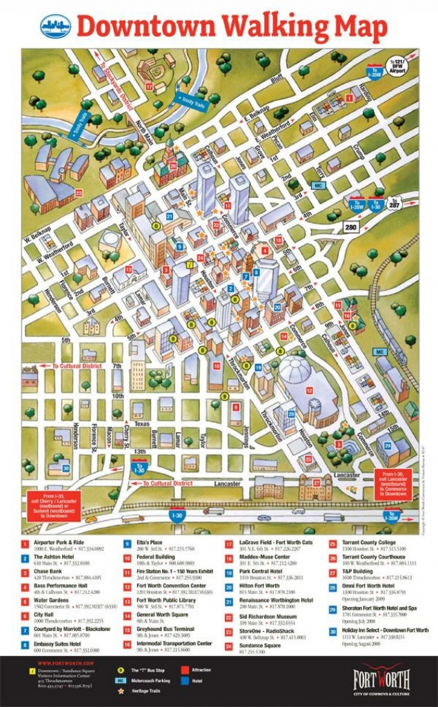 Map Of Downtown Fort Worth - Fort Worth Downtown Map (Texas - Usa) - Map Of Downtown Fort Worth Texas