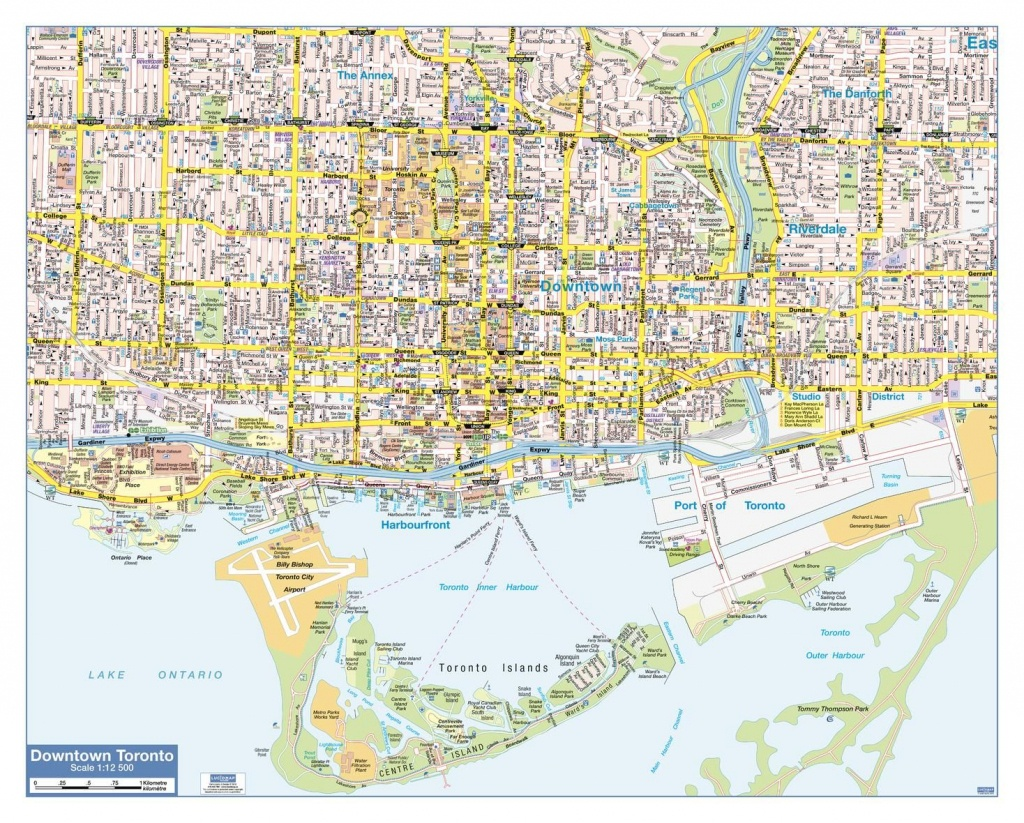 Map Of Downtown Toronto - Printable Map Of Downtown Toronto