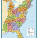 Map Of East Coast Usa States With Cities Map United States Printable   Printable Map Of Usa States And Cities