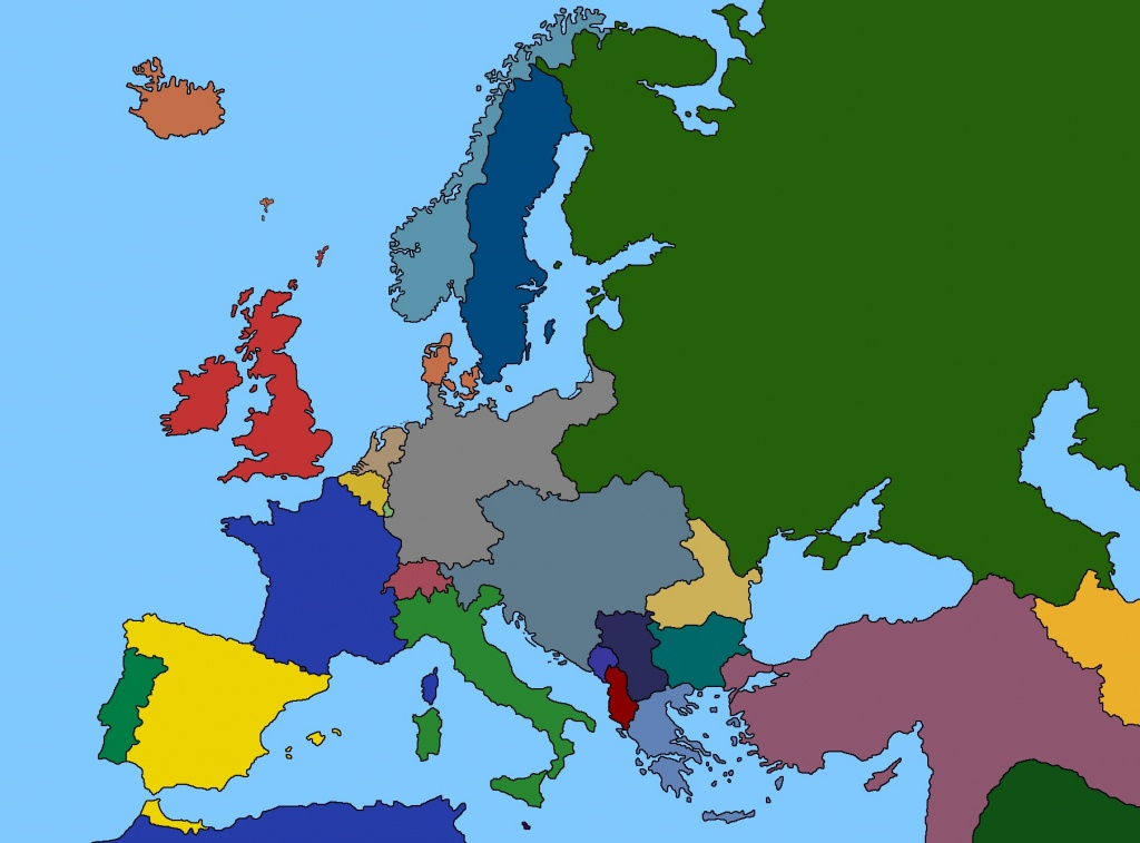 Map Of Europe 1914 - World Wide Maps - Blank Map Of Europe 1914 Printable
