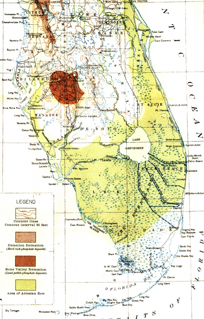 Map Of Everglades Drainage, 1913 - Map Of Florida Showing The Everglades