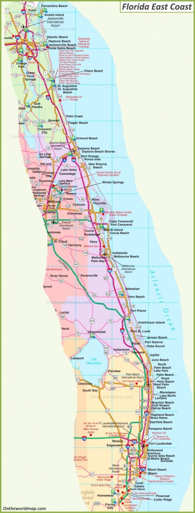 Map Of Florida East Coast - Map Of South Florida Beaches