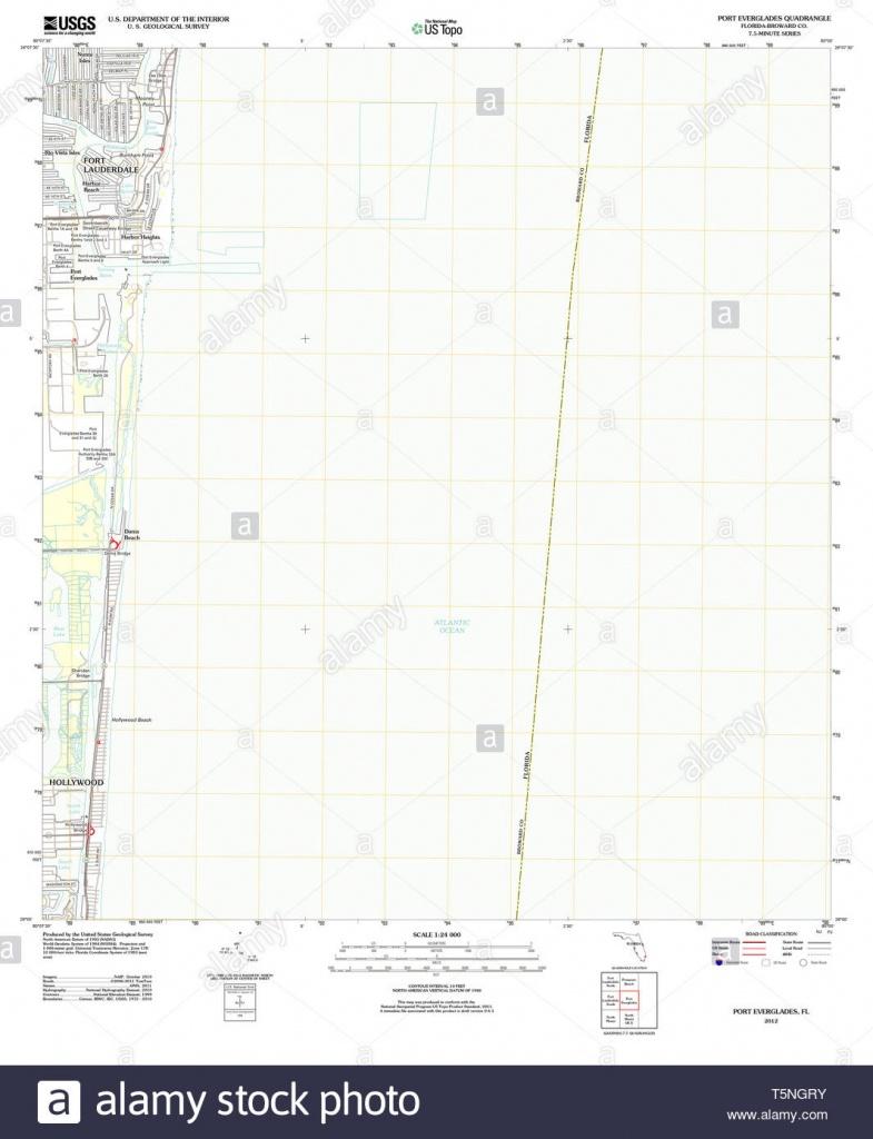 Map Of Florida Everglades Stock Photos & Map Of Florida Everglades - Port Everglades Florida Map