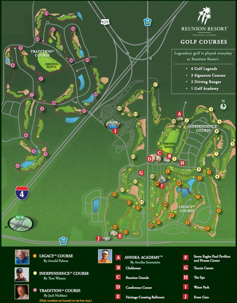 Map Of Florida Golf Courses - Capitalsource - Map Of Central Florida Golf Courses