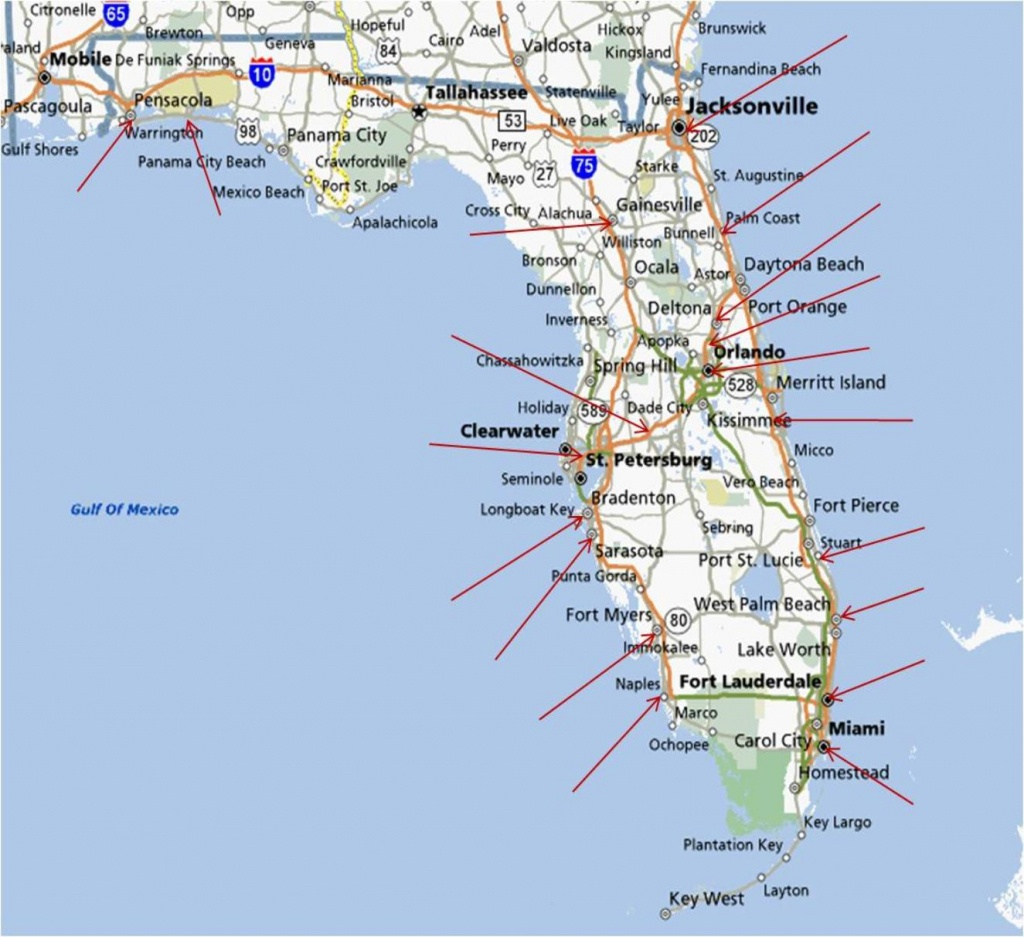 Map Of Florida Running Stores - Orange Beach Florida Map