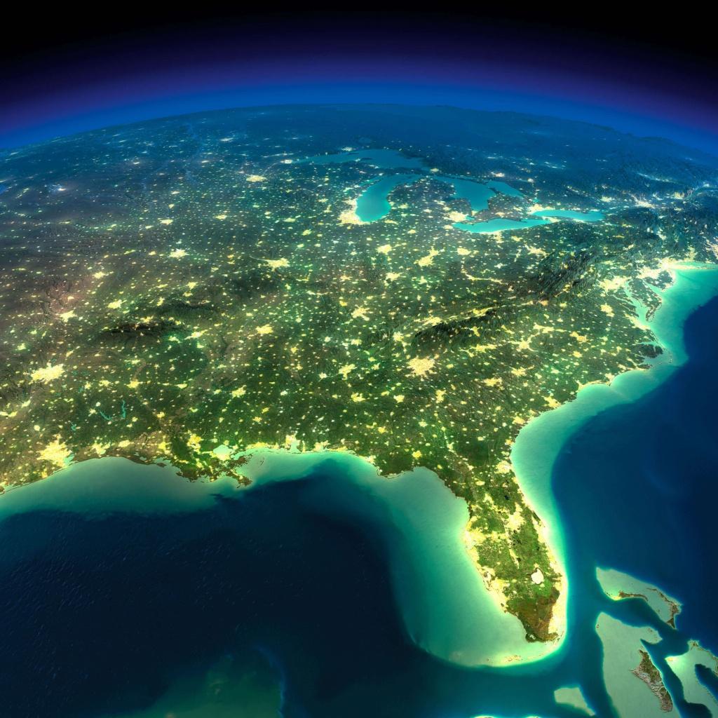 Map Of Florida - Satellite Map Of Florida