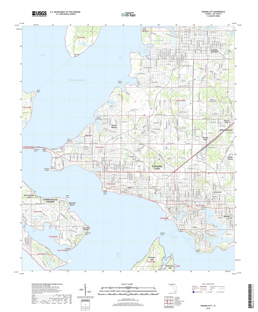 Map Of Florida Showing Panama City - Panama Beach Florida Map