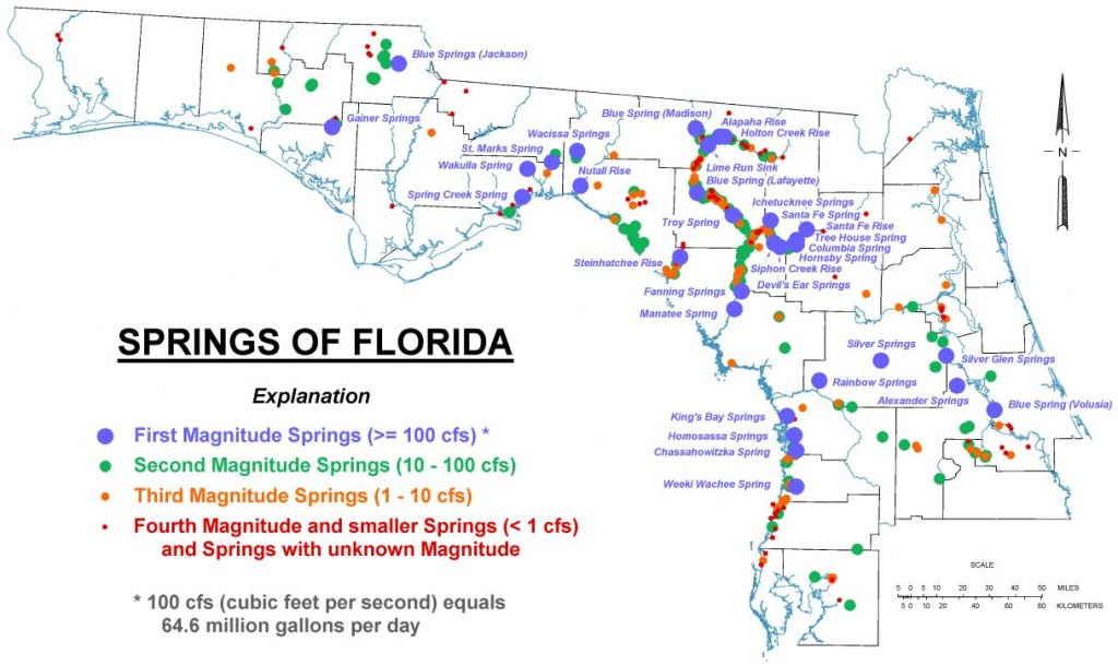 Map Of Florida Springs | Download Them And Print - Springs Map Florida
