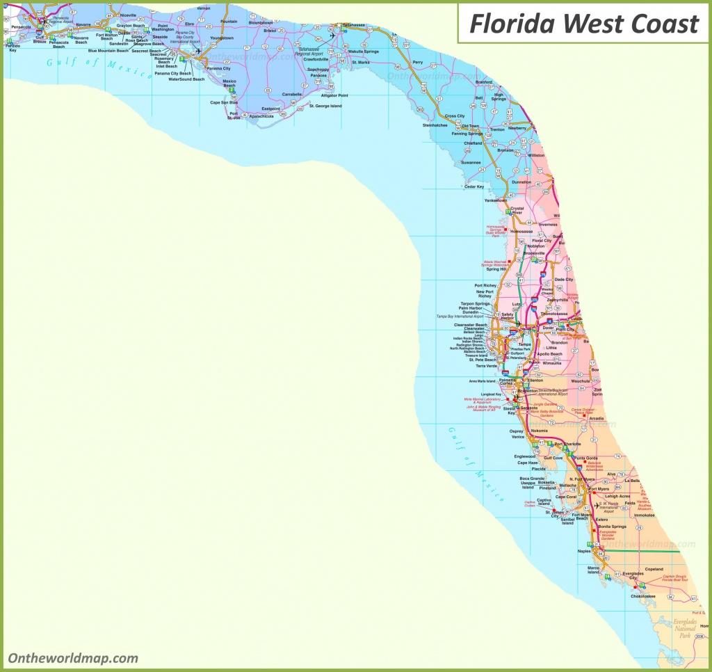 Map Of Florida West Coast - Map Of Florida West Coast