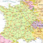 Map Of France And Switzerland   Recana Masana   Printable Road Map Of France