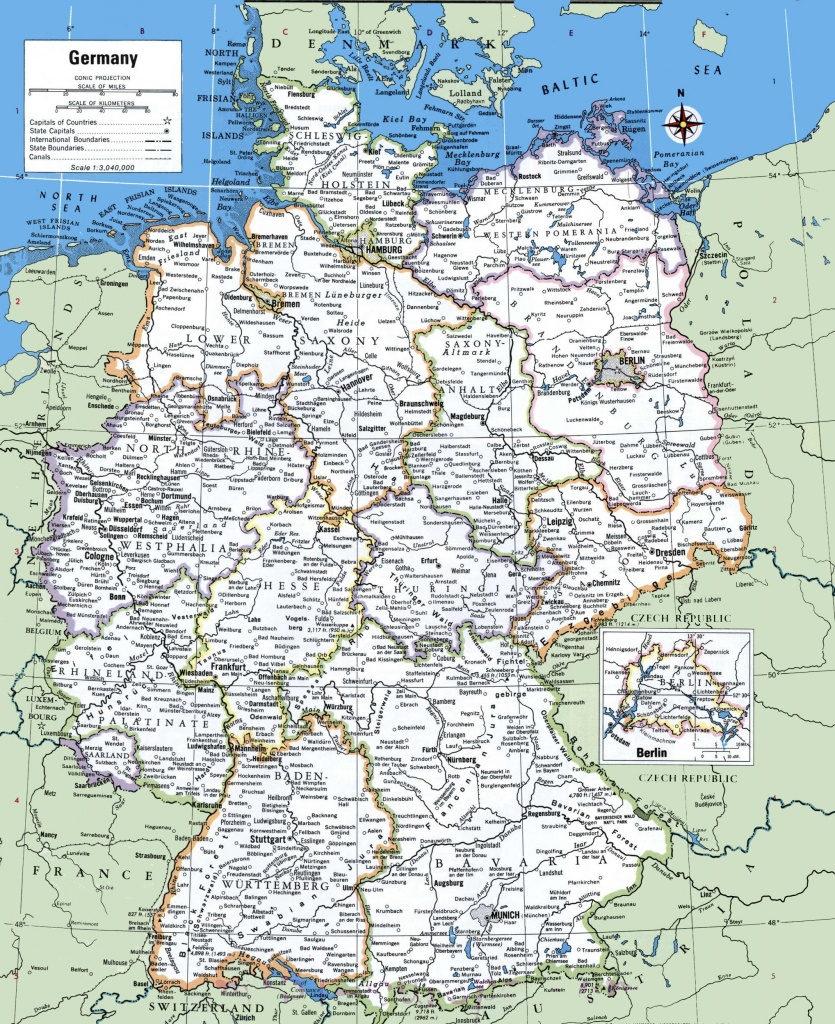 Map Of Germany With Cities And Towns - Large Printable Map Of Germany