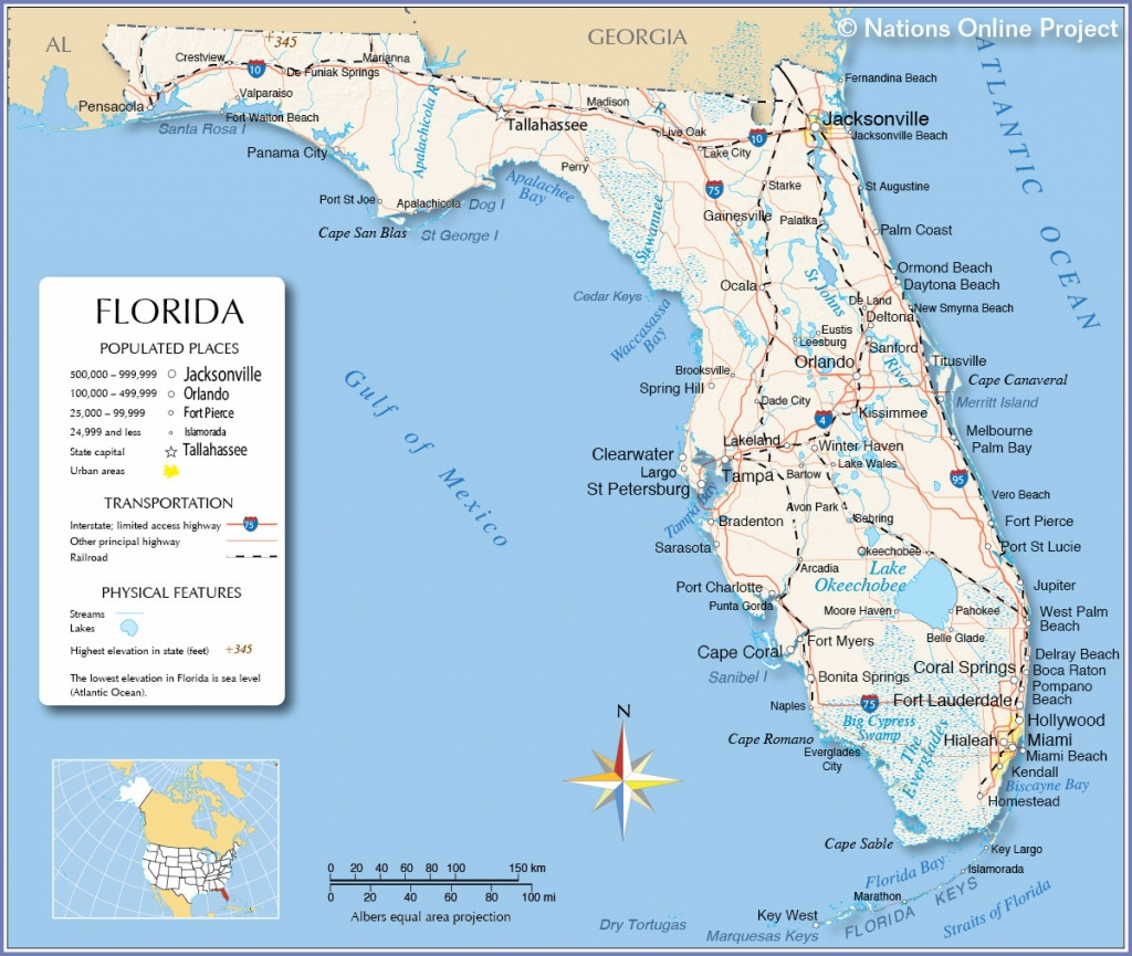 Map Of Gulf Coast Cities And Travel Information   Download Free Map - Map Of Florida Gulf Side