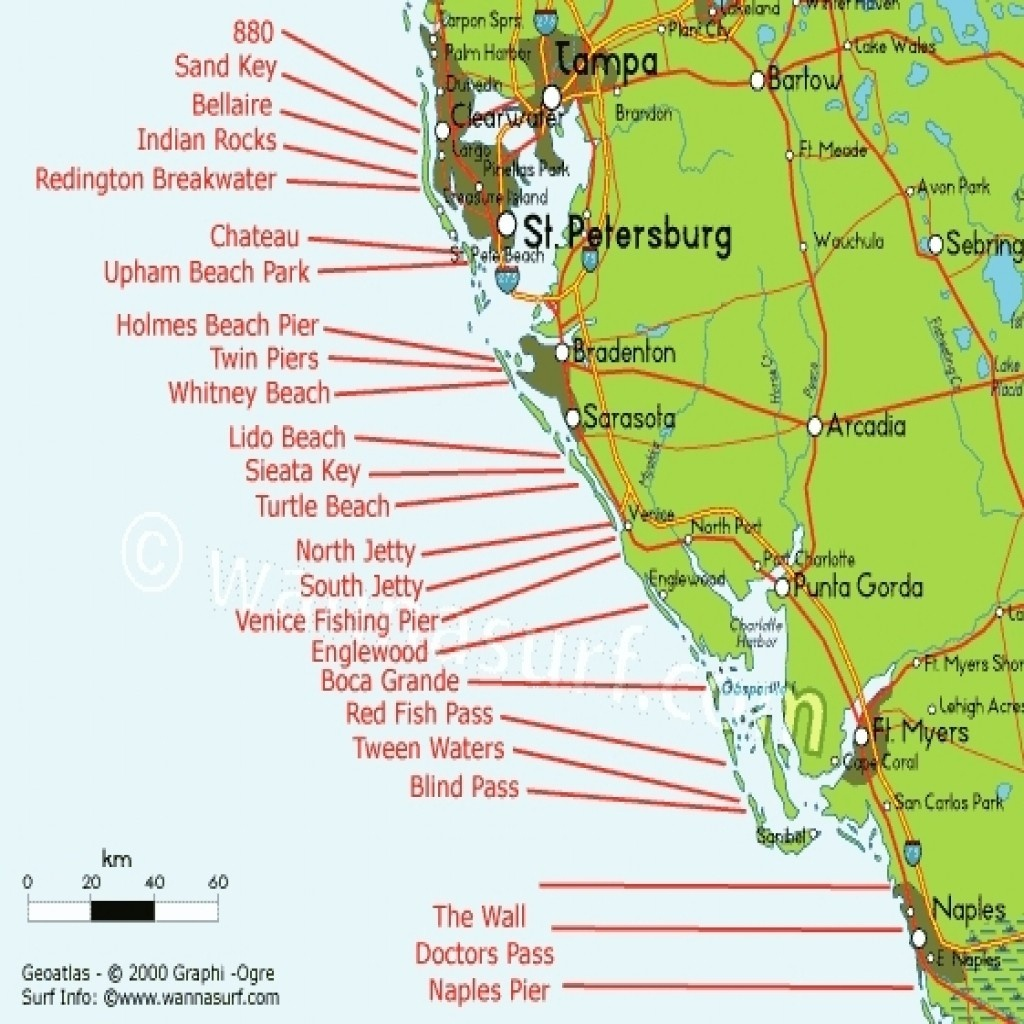 Map Of Gulf Coast States West Florida Free Regarding   D1Softball - Map Of Florida Gulf Side