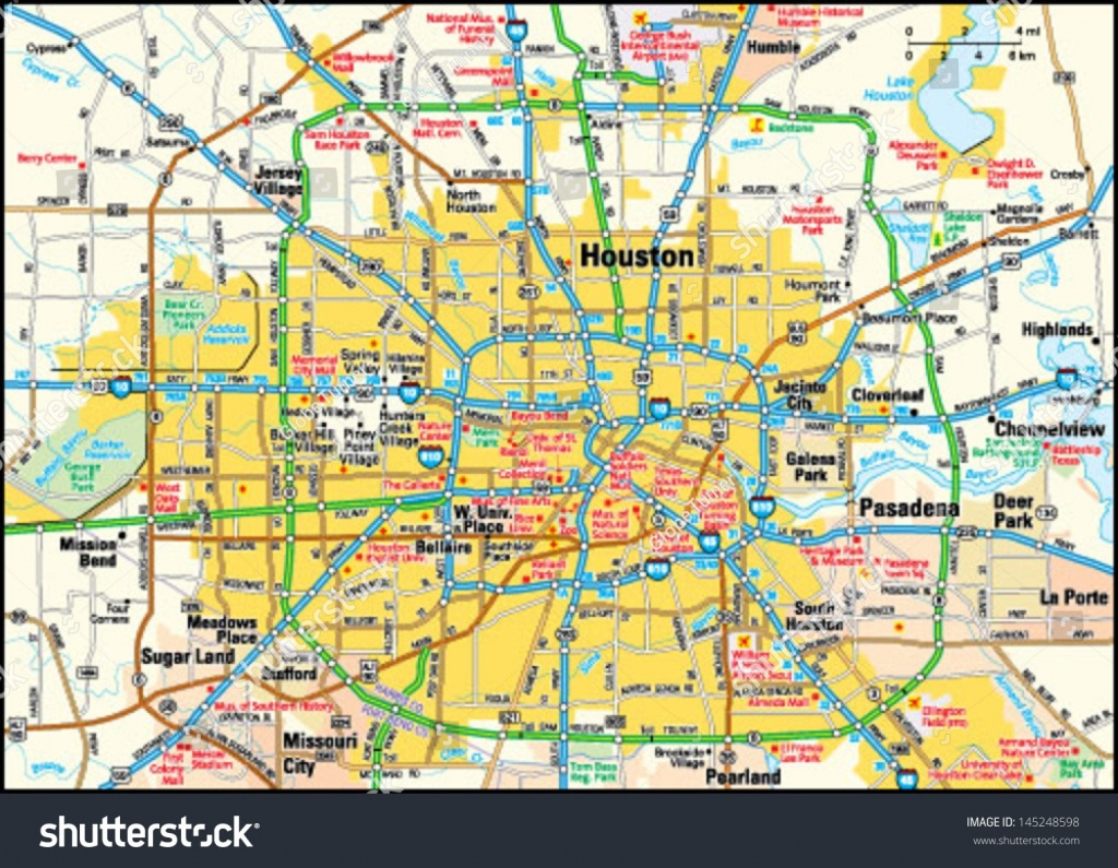 Map Of Houston Area Tx Free Downloads Maps Printable Texas Road - Printable Map Of Houston