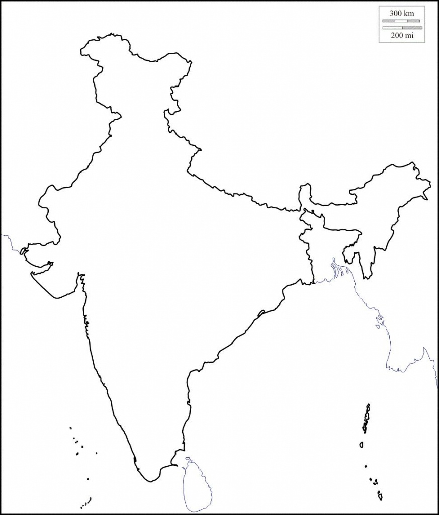 Map Of India Outline | Map Of India With States In 2019 | India Map - India Outline Map A4 Size Printable