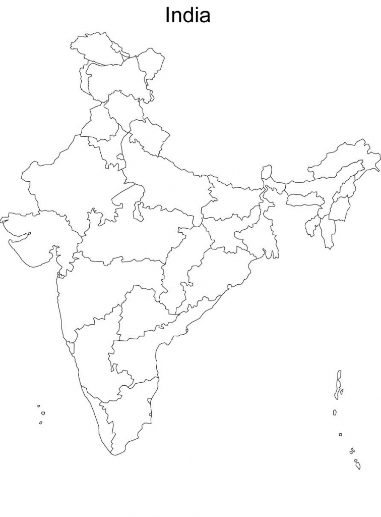Map Of India Without Names Blank Political Map Of India Without - Blank Political Map Of India Printable