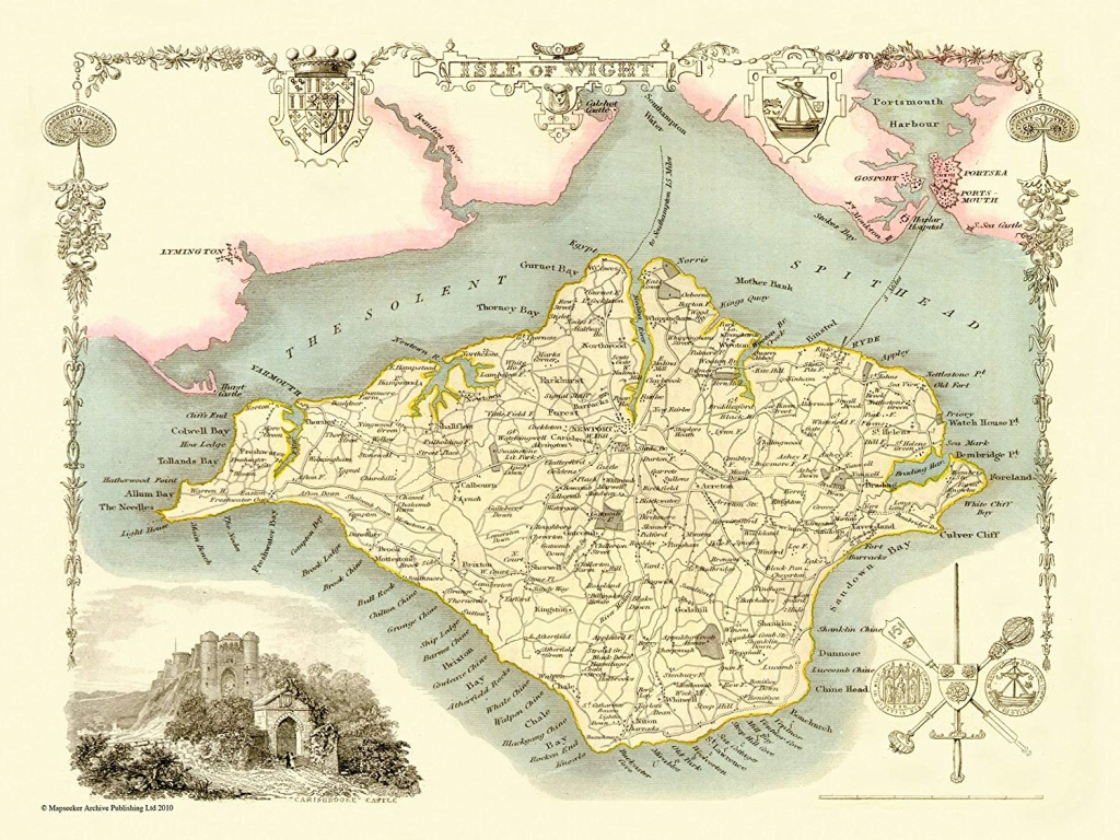 Map Of Isle Of Wight 1836Thomas Moule 1000 Piece Jigsaw Puzzle Jhg - Printable Map Of Isle Of Wight
