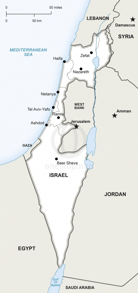 Map Of Israel Political In 2019 | Maps | Map, Map Vector, Israel - Printable Map Of Israel Today