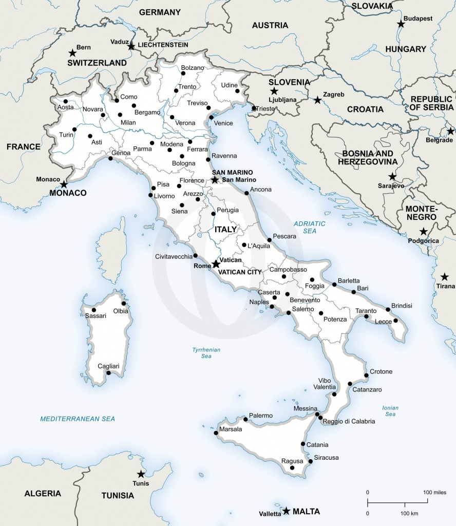 Map Of Italy Political In 2019 | Free Printables | Map Of Italy - Printable Map Of Italy