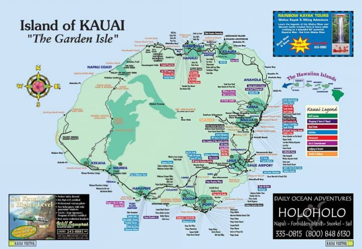 Printable Map Of Kauai Hawaii